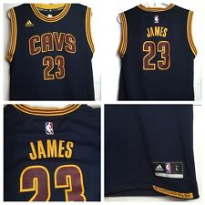 LeBron James #23 Cleveland Cavaliers NBA Youth Size L 14-16 Adidas Jersey