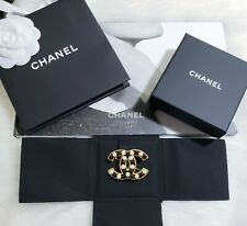 Gold Black White Pearl Pin Brooch New Chanel 2020 Authentic Classic Cc Large