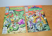 Vintage INHUMANOIDS Comic Book Lot #1 & #2 Marvel 1987 Comics 1980s Toys Copper