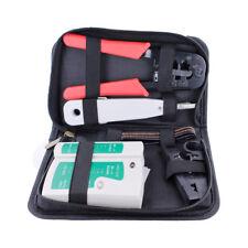 Estuche Kit Comprobador Tester Cables Red RJ45-RJ11, con Crimpadora a3260