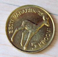1993 Estonia 5 Krooni Deer Unc.