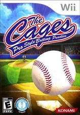 Cages: Pro Style Batting Practice (Nintendo Wii, 2010) LN Manual & EXPEDITED
