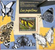 A0272 - CENTRAL AFRICA - MISSPERF 2014  stamp SHEET:  Nature BUTTERFLIES