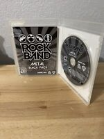 Rock Band: Metal Track Pack (Sony PlayStation 3, 2009) PS3 Complete Tested Works