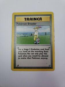 Pokemon Breeder Pokemon Card Base Set 1999