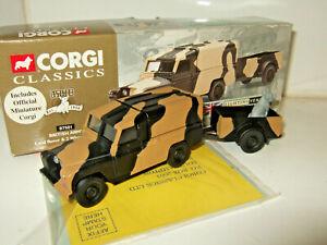 Corgi 07501 British Army Land Rover and Trailer, 1st Batt. Royal Green Jackets.