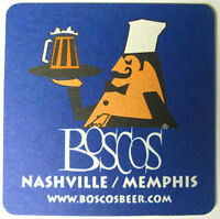 BOSCOS Beer COASTER Mat w/ Chef with Beer Mug Nashville, Memphis, TENNESSEE 2006
