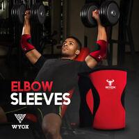 WYOX Elbow Support Cross Fit 5mm Neoprene Elbow Sleeve Power WeightLifting Brace