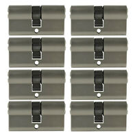 Cilindro de doble vuelta para puertas // entradas exteriores 40//45 mm Abus Plateado EC-SNP 40//45 45006