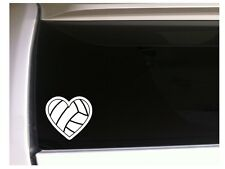 "Heart Volleyball vinyl car decal 6"" *L39 Sports Athlete Glove Volley Sticker"