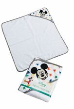 Disney Mickey Mouse Baby Boys Grey Stars Hooded Soft Bath Towel 76x76 cm