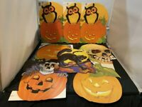 VINTAGE EUREKA LOT OF 8 HALLOWEEN DIE CUT CARDBOARD DECORATION LOT #3