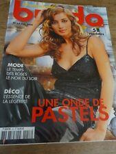 MAGAZINE BURDA UNE ONDE DE PASTELS LE NOIR DU SOIR    2004 N°53