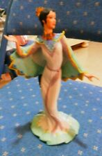 "See! Collectible Vintage Lenox Porcelain Figurine ""Peacock Maiden""-Nr"