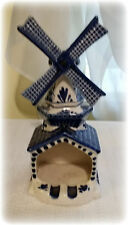 Vintage Blue & White Ashtray Shape of Windmill Marked Delfts Blue Windmill Works