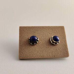 155 Earrings Silver 925 Lapis Lazuli 32