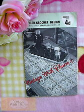 Vintage 1960s Crochet Pattern For A Trolley Cloth In Pineapple Motif FREE UK P&P