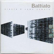 FRANCO BATTIATO CD SINGLE PROMO 1 traccia 2007 NIENTE E COME SEMBRA cardsleeve