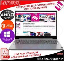 PORTATIL LENOVO V15 ADA AMD 3020E 2,6GHZ 15.6 4GB 256GB WINDOWS 10 TELETRABAJO