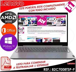 Laptop Lenovo V15 Ada AMD 3020E 2,6GHZ 15.6 4GB 256GB Windows 10 Teletrabajo
