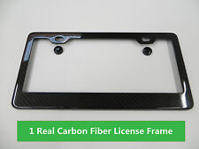 CARBON FIBER License Plate Frame 100% Real Carbon Car Tag Cover fit chevy #1