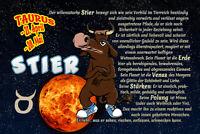 Sternzeichen Stier Taurus Blechschild Schild gewölbt Tin Sign 20 x 30 cm