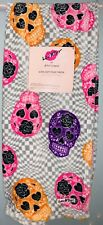 BETSEY JOHNSON Sugar Skulls Checkered Ultra soft Plush Throw Blanket (50 X 60)