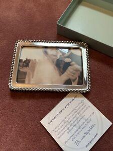 "Mariposa Handmade Beaded 5 x 7 Frame - Handmade in Mexico 4"" x 6"" opening"
