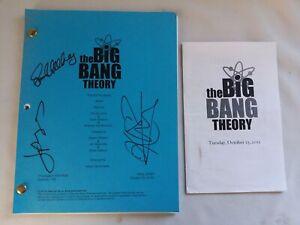 Signed Big Bang Theory Script #608 Oct 22 2012 Final Draft.
