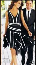 Next Size 10 Hanky Hem Formal Wedding Party Ocassion Black & White Dress US 6