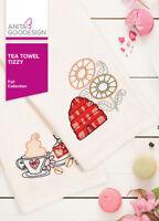Tea Towel Tizzy Anita Goodesign Embroidery Design Machine CD