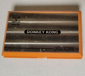Nintendo Donkey Kong - Game And Watch Multiscreen 1982 - Tested- Works Used