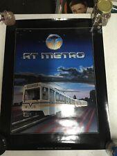 RT Metro Poster 1986 Sacramento Vintage Art Poster - Regional Transit District