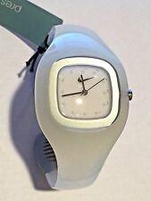 Reloj Analógico Nike Presto Trans Blanco Diseñador Med Pulsera 9-102 Sport Raro