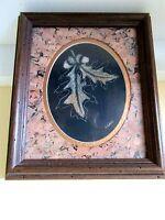 #1 Vintage Sharon Wald Scratchboard Etching Framed~Matted/Cork~Signed~RARE