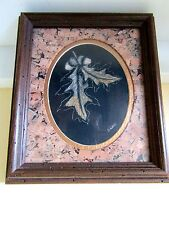 #1 Vintage Sharon Wald Scratchboard Etching Framed~Matted/Cork~Signed~RARE