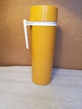 Vintage Thermos King Seeley Kst Gold Plastic Model 7402 with Vacuum Jar 12""