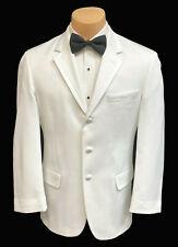 Men's White Calvin Klein Tuxedo Dinner Jacket Prom Groom Wedding Mason 41L