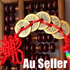 Chinese Feng Shui Protection Fortune Lucky Charm Red Tassel String Tied Coin