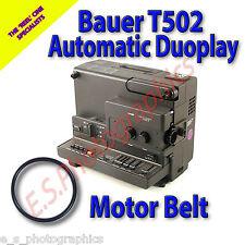 Bauer t502 duoplay SUPER 8mm CINE PROIETTORE Belt (motore principale Cintura)