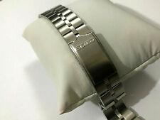 20mm Seiko Z040S flat lugs Fishbone brush steel gents mens watch bracelet strap