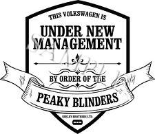 Administración de Volkswagen pálida anteojeras LOGO PEGATINA DE VINILO COCHE DECAL Reino Unido sólo Post