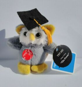 "Dan Dee Owl Plush Musical The Power Graduate Graduation Keychain 5"" New"