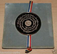 Bicentennial Medal Bronze Franklin Mint 1976 Gilroy Roberts Famous Americans