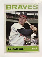 Ed Mathews 1964 Topps Baseball #35 Milwaukee Braves