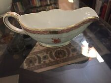"""VINTAGE HEREND RUST ORANGE """"Chinese Bouquet"""" Cream Pitcher/Small Sauce Boat"""