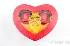 Chinoises Mariage Coeur Boîte Paire à Couvercle Tasses - Thé