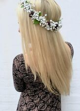 Blackberry Fruit Gypsophila Baby's Breath Flower Crown Halo Hair Band Choochie