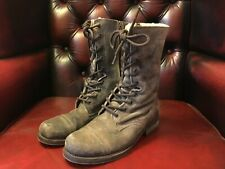 ALLSAINTS Suede Leather Shearling lined Miitary Boots Size 3.5 (UK) 36 (EU)