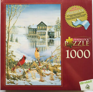 Perfalock Countryside Cardinals Jigsaw Puzzle 1000 Pieces Wrebbit SEALD